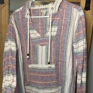 Adorable summer poncho. With hoodie.